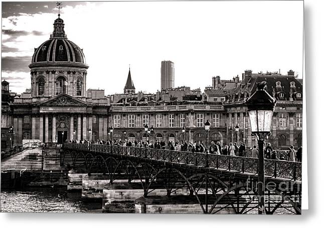 Gathering Photographs Greeting Cards - Quintessential Paris Greeting Card by Olivier Le Queinec