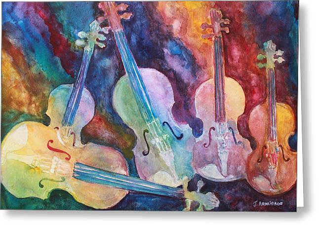 Quintet In Color Greeting Card by Jenny Armitage
