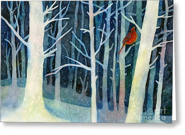 Male Northern Cardinal Greeting Cards - Quiet Moment Greeting Card by Hailey E Herrera