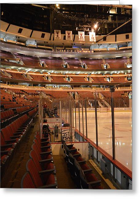 Quite Time Chicago United Center Before The Gates Open Vertical Greeting Card by Thomas Woolworth