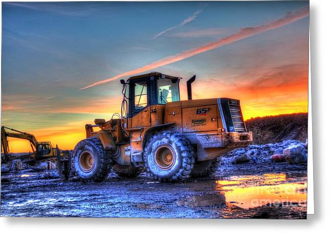 Front End Loader Greeting Cards - Quitting Time Greeting Card by Matt  Davis