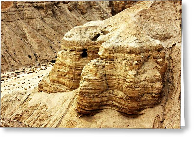 Paper Valley Greeting Cards - Qumran Cave 4 Greeting Card by Stephen Stookey