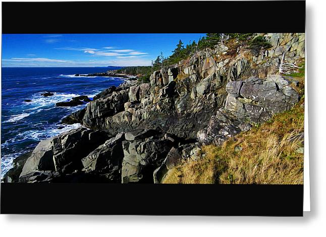 Quoddy Greeting Cards - Quoddy Head Ledge Greeting Card by Bill Caldwell -        ABeautifulSky Photography