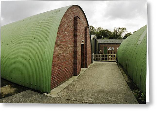Raf Greeting Cards - Quonset Huts RAF Knettishall Greeting Card by Jan Faul