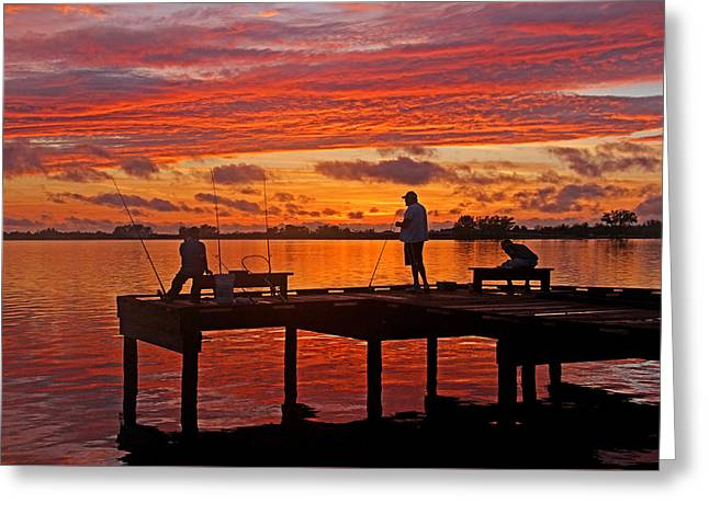 Beautiful Scenery Greeting Cards - R and R Greeting Card by HH Photography of Florida