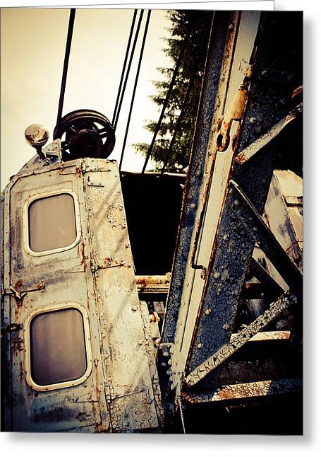 Rr Greeting Cards - R R Crane  Greeting Card by Off The Beaten Path Photography - Andrew Alexander