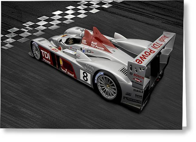 German Race Car Greeting Cards - R10 Le Mans Greeting Card by Peter Chilelli