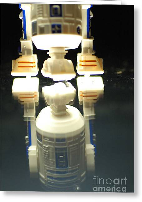 Jet Star Greeting Cards - R2-D2 toy Greeting Card by Micah May