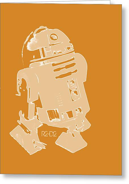 Wan Greeting Cards - R2d2 Greeting Card by Toppart Sweden