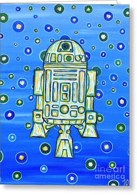 R2dr Greeting Cards - R2d2.2 Greeting Card by Terra C