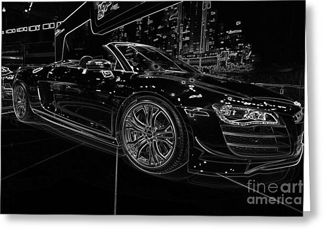 Replacing Greeting Cards - R8 GT Spyder Greeting Card by Alan Look