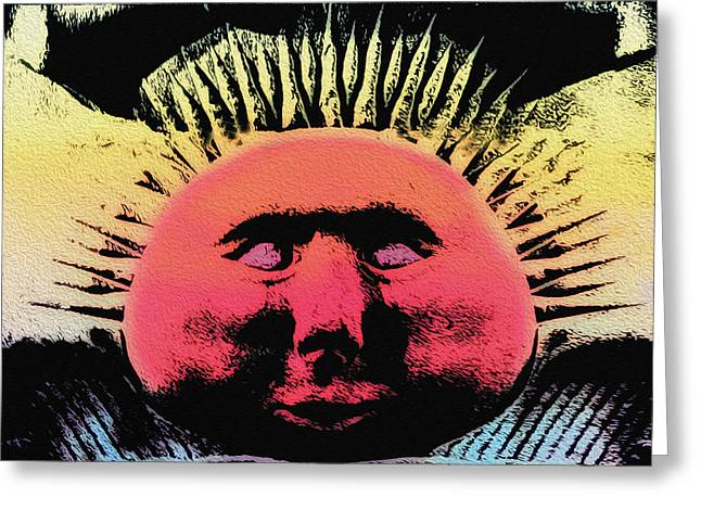 The Sun God Greeting Cards - Ra - The Sun God Greeting Card by Bill Cannon