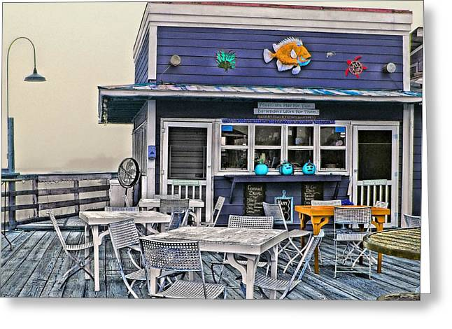 Beach Cottage Style Greeting Cards - Raaah Bar Greeting Card by Laura Ragland