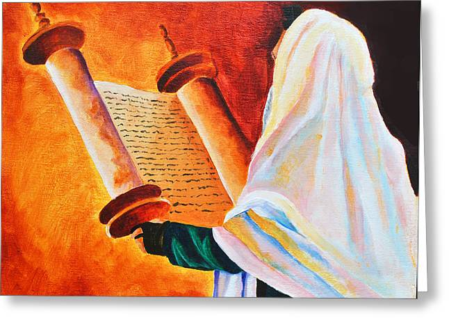 Shemini Atzeret Greeting Cards - Rabbi Greeting Card by Dawnstarstudios
