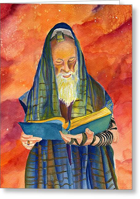 Shemini Atzeret Greeting Cards - Rabbi I Greeting Card by Dawnstarstudios