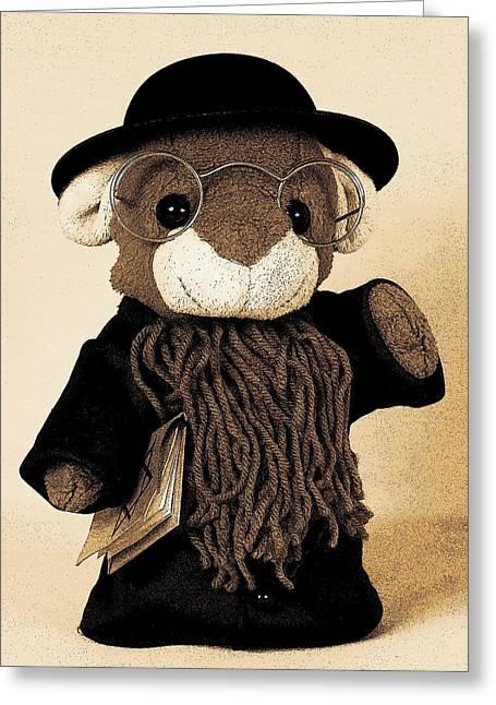 Talmud Greeting Cards - Rabbi T Greeting Card by Piggy