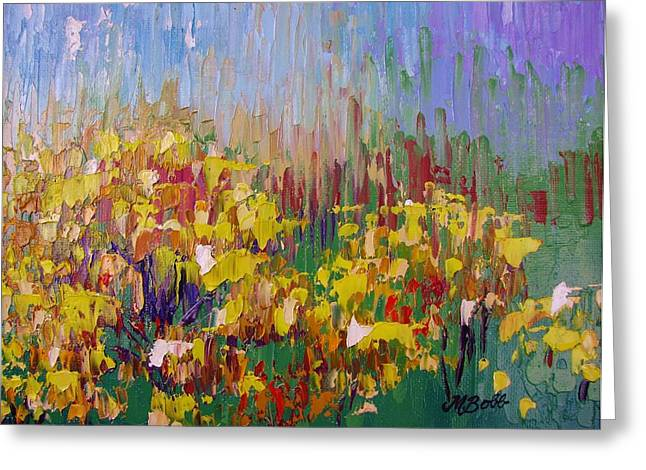 M Bobb Greeting Cards - Rabbit Brush Abstracted Greeting Card by Margaret Bobb