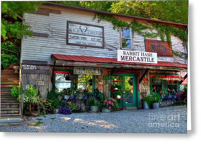 Boone County Greeting Cards - Rabbit Hash Mercantile Greeting Card by Mel Steinhauer