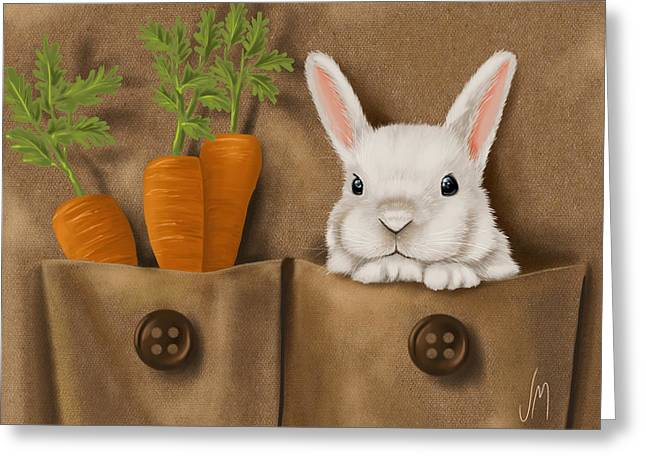 Digital Finger Greeting Cards - Rabbit hole Greeting Card by Veronica Minozzi