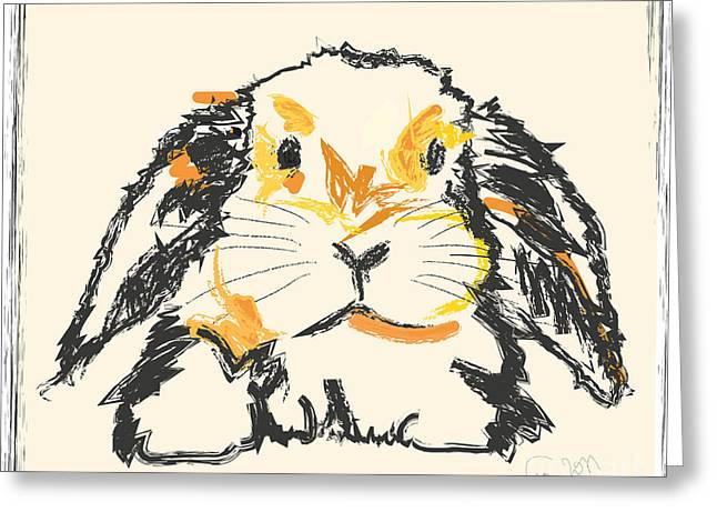 Rabbit Greeting Cards - Rabbit Jon Greeting Card by Go Van Kampen