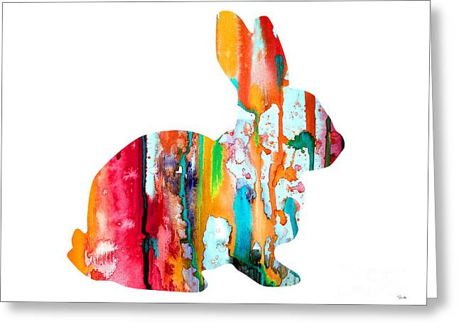 Animal Posters Greeting Cards - Rabbit Greeting Card by Luke and Slavi