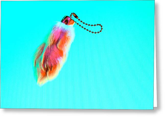 Voodoo Greeting Cards - Rabbits Foot Keychain Greeting Card by Yo Pedro