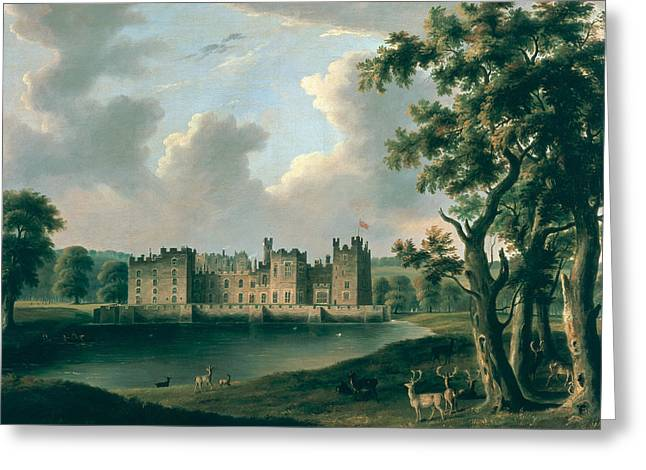 Deer Photographs Greeting Cards - Raby Castle Greeting Card by James Miller