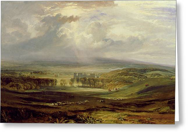 Moorlands Greeting Cards - Raby Castle Greeting Card by Joseph Mallord William Turner