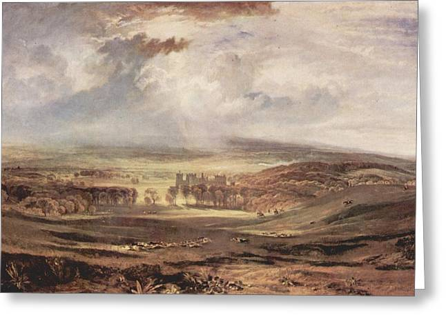 Jmw Greeting Cards - Raby Castle residence of the Earl of Darlington Greeting Card by Joseph Mallord William Turner