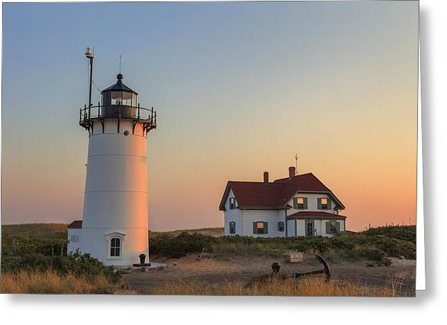 Race Point Greeting Cards - Race Point Lighthouse Greeting Card by Bill  Wakeley