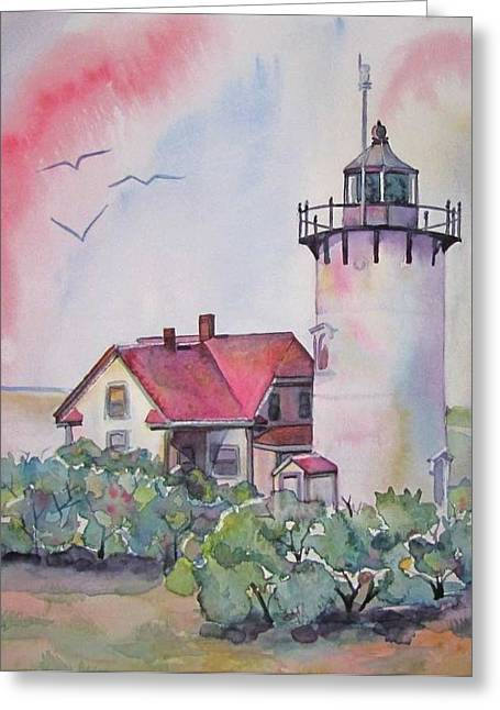 Martha Ayotte Greeting Cards - Race Point Lighthouse Greeting Card by Martha Ayotte