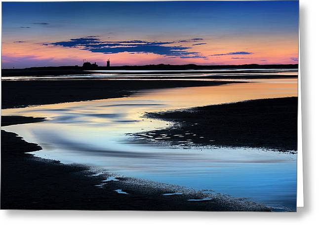 Race Point Greeting Cards - Race Point Low Tide Sunset Greeting Card by Bill  Wakeley