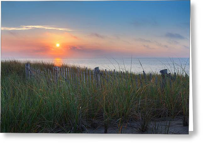 New England Landscape Greeting Cards - Race Point Sunset Greeting Card by Bill  Wakeley