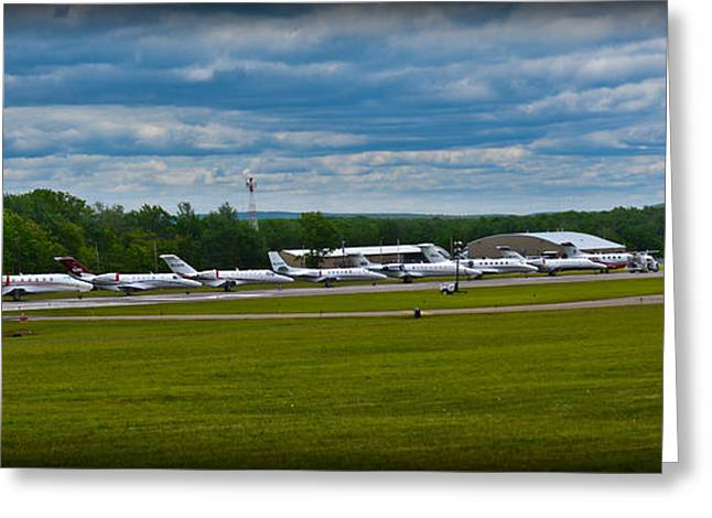 Traffic Control Greeting Cards - Race Week 2014 Pocono Airport  Greeting Card by Gary Keesler