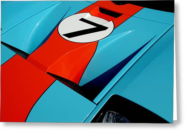 Racecar Number Greeting Cards - Racecar Number 7 Greeting Card by David Cabana