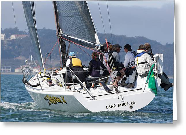 Sausalito Greeting Cards - RACER X Farr 36 Greeting Card by Steven Lapkin