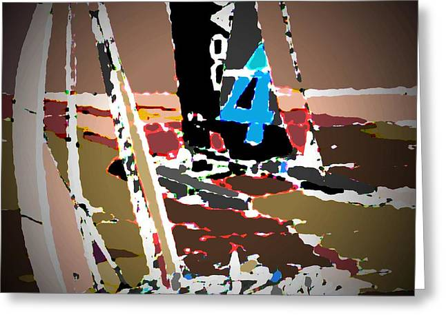 Yachting Mixed Media Greeting Cards - Races 2 Greeting Card by Andrew Drozdowicz