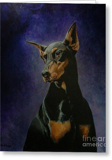 Doberman Pinscher Puppy Greeting Cards - Rachel Greeting Card by Ace Robst Jr