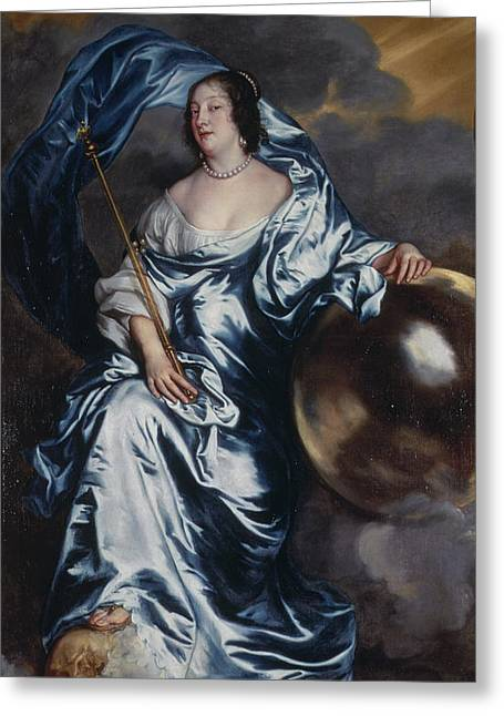 Full-length Portrait Greeting Cards - Rachel De Ruvigny, Countess Greeting Card by Sir Anthony van Dyck
