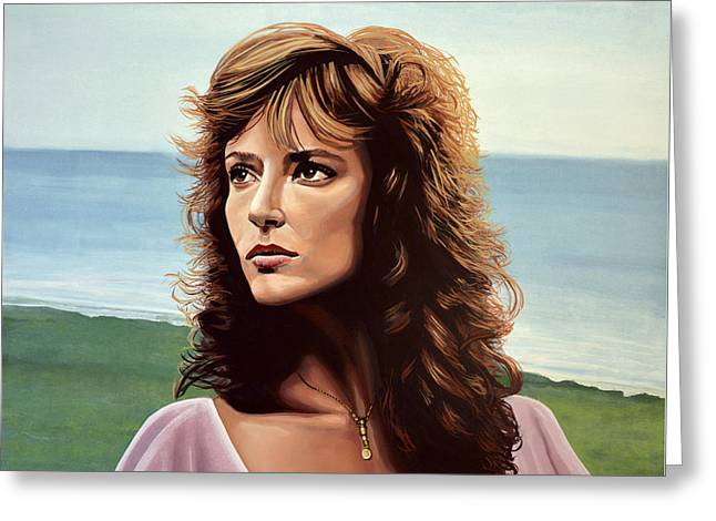 Golden Globe Greeting Cards - Rachel Ward Greeting Card by Paul Meijering