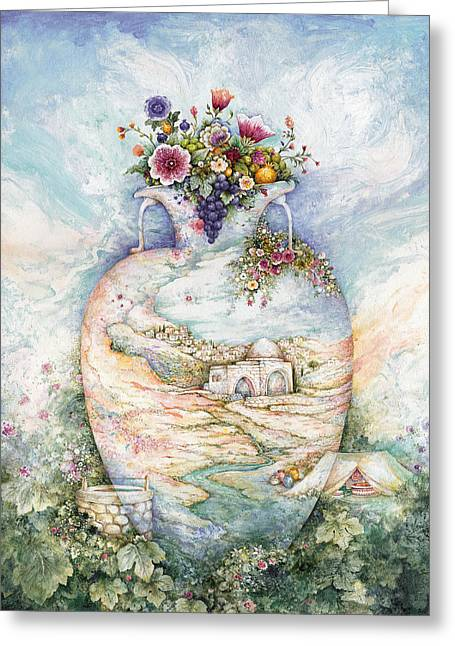 Jugs Greeting Cards - Rachels Jug Greeting Card by Michoel Muchnik
