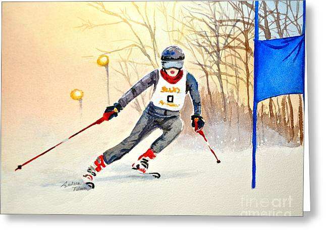 Andrea Timm Greeting Cards - Racing the Sun Greeting Card by Andrea Timm