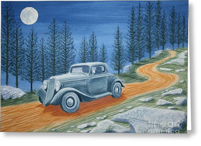 Photorealism Greeting Cards - Racing Was Born in North Carolina Greeting Card by Stacy C Bottoms