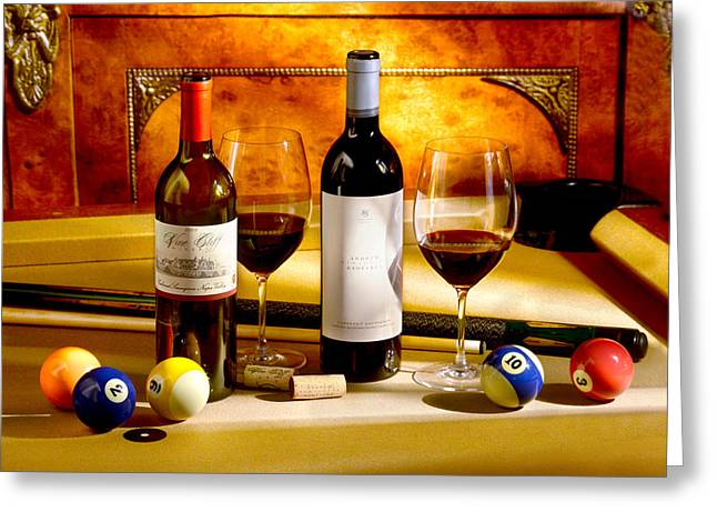 Table Wine Greeting Cards - Rack em Up Greeting Card by Jon Neidert