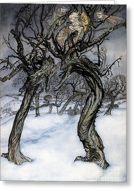 Rackham: Whisper Trees Greeting Card by Granger