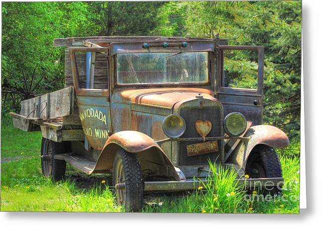 Wheel Framed Prints Greeting Cards - Rad Rusty Delivery Greeting Card by Jimmy Ostgard