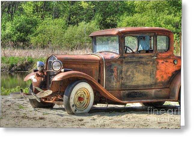 Rad Greeting Cards - Rad Rusty Ride Greeting Card by Jimmy Ostgard