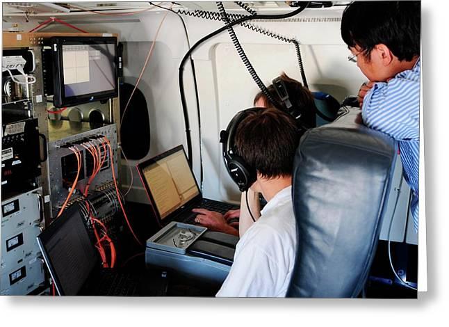 Radar Calibration Greeting Card by Nasa/nserc/emily Schaller