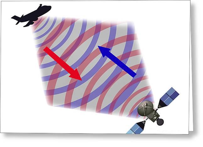 Rotate Greeting Cards - Radar Illustration Greeting Card by Gwen Shockey