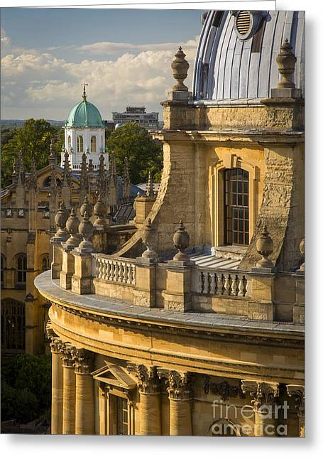 School Science Greeting Cards - Radcliffe Camera  Greeting Card by Brian Jannsen